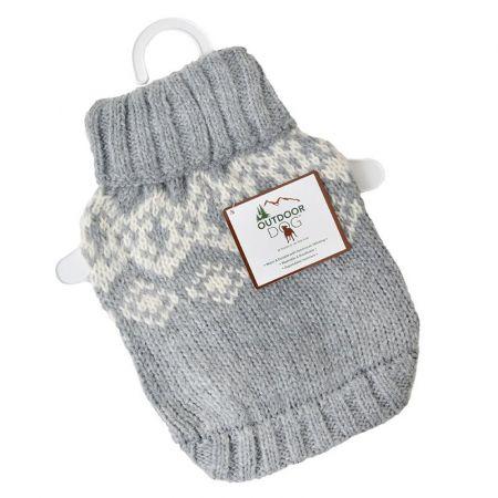 Fashion Pet Fashion Pet Soft Fair Isle Dog Sweater - Grey