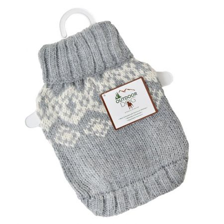Fashion Pet Soft Fair Isle Dog Sweater - Grey alternate view 1