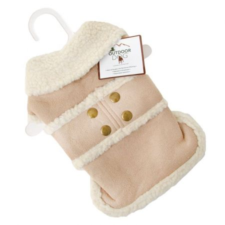 Fashion Pet Outdoor Dog Shearling Dog Blanket/Coat - Camel