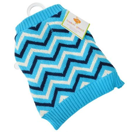 Fashion Pet Lookin' Good Chevron Dog Sweater - Blue