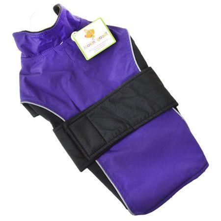 Fashion Pet Lookin' Good Waterproof Reflective Dog Coat - Purple