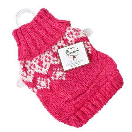 Fashion Pet Fashion Pet Soft Fair Isle Dog Sweater - Pink
