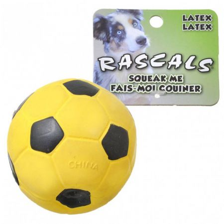 Coastal Pet Rascals Latex Soccer Ball for Dogs - Yellow
