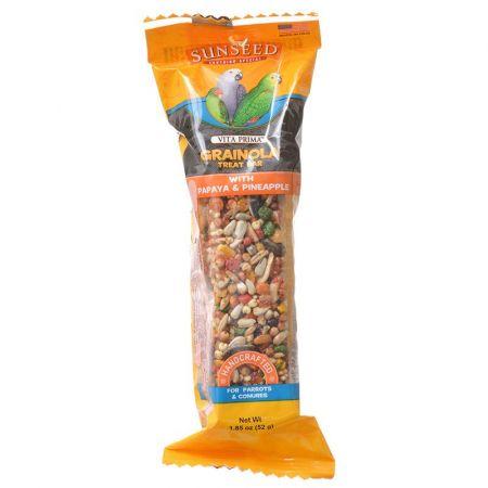 Vitakraft Sunseed Grainola Parrot Treat Bar with Papaya & Pineapple