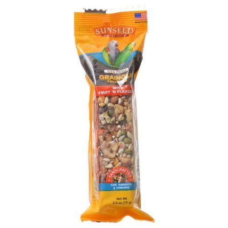 Vitakraft Sunseed Grainola Parrot Treat Bar with Fruit 'n Flaxseed