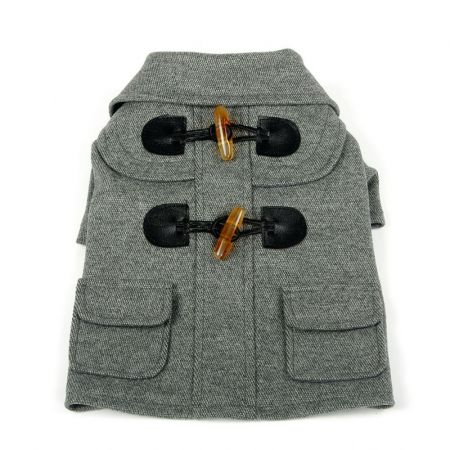 Pet Life Pet Life Military Grey Rivited Wool Dog Coat