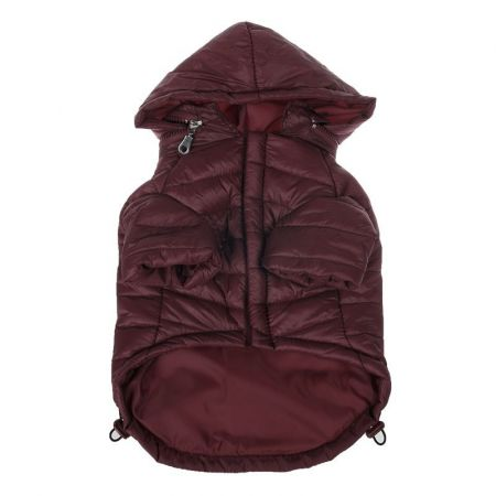 Pet Life Sporty Avalanche Lightweight Dog Coat with Hood - Brown alternate view 1