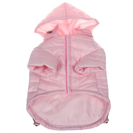 Pet Life Sporty Avalanche Lightweight Dog Coat with Hood - Pink