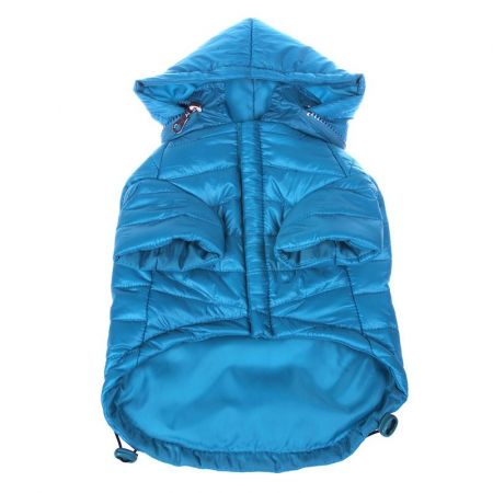 Pet Life Pet Life Sporty Avalanche Lightweight Dog Coat with Hood - Blue