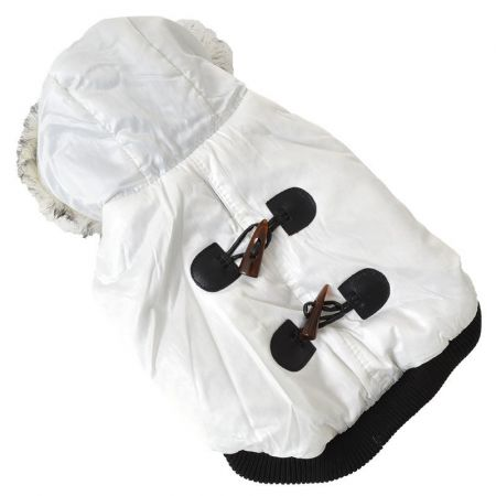 Pet Life Pet Life Winter White Dog Parka with Removable Hood