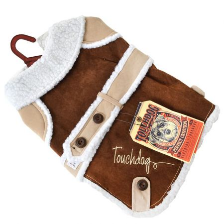 Pet Life Touchdog Brown Sherpa Dog Coat