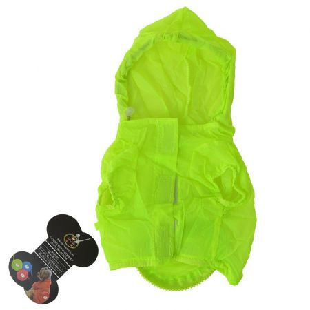 Pet Life Ultimate Waterproof Thunder-Paw Zippered Yellow Travel Dog Raincoat