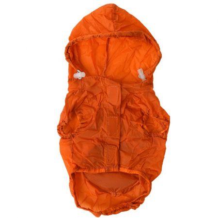 Pet Life Pet Life Ultimate Waterproof Thunder-Paw Zippered Orange Travel Dog Raincoat