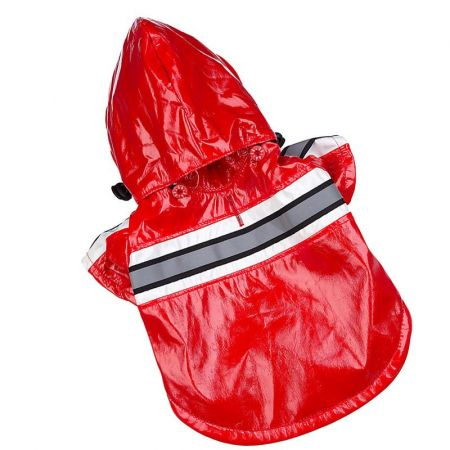 Pet Life Reflecta-Glow Adjustable Reflective Red Dog Raincoat alternate view 1