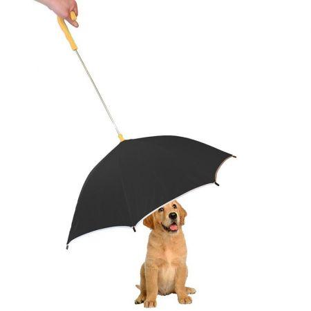 Pet Life Drip-Proof Pet Umbrella - Black w/ Yellow Handle alternate view 1