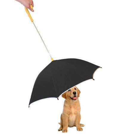 Pet Life Pet Life Drip-Proof Pet Umbrella - Black w/ Yellow Handle