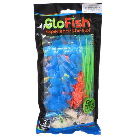 GloFish GloFish Aquarium Plant Multipack - Orange, Green & Blue