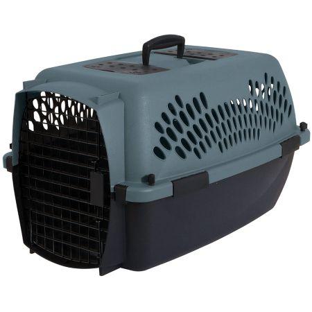 Aspen Pet Aspen Pet Porter Heavy-Duty Pet Carrier Storm Gray and Black