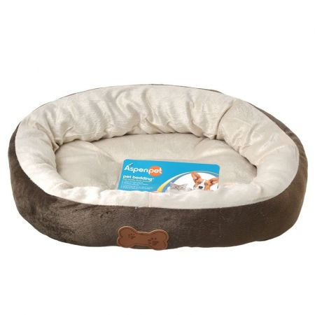 Aspen Pet Aspen Pet Oval Nesting Pet Bed - Brown