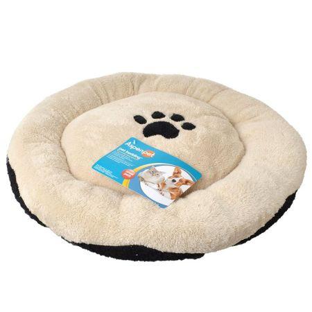 Aspen Pet Aspen Pet Round Pet Bed with Paw Applique
