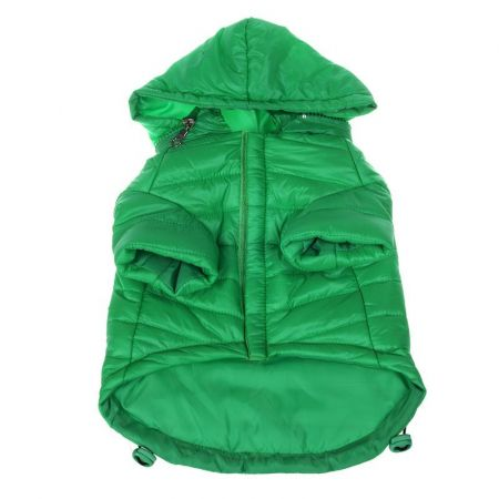 Pet Life Sporty Avalanche Lightweight Dog Coat with Hood - Green