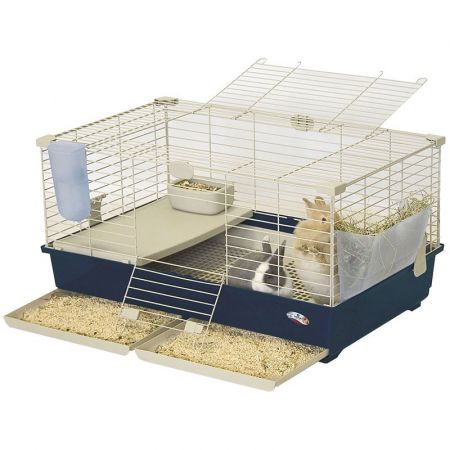 Marchioro Products Marchioro Tommy Deluxe Guinea Pig & Rabbit Cage Kit - Blue