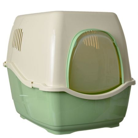 Marchioro Products Marchioro Bill F Deluxe Hooded Litter Pan - Jade