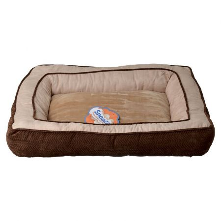 Precision Pet Precision Pet Snoozzy Chevron Chenille Gusset Dog Bed - Chocolate