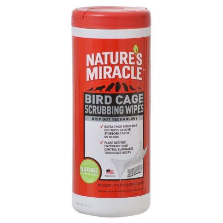 Natures Miracle Nature's Miracle Bird Cage Scrubbing Wipes