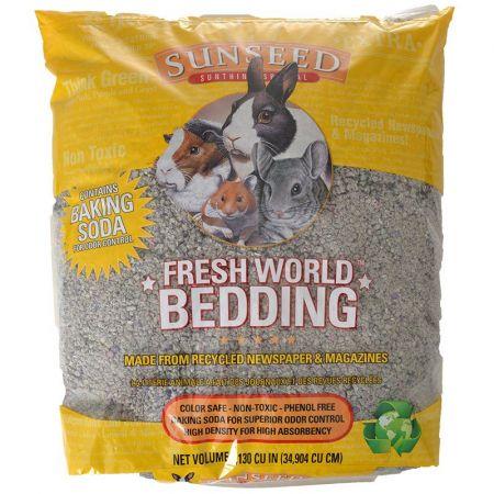 Vitakraft Sunseed Fresh World Small Pet Paper Bedding - Grey