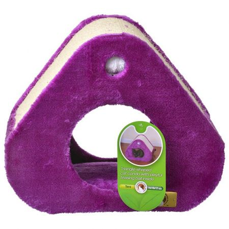 Pet Pals Pet Pals Triangle Cat Condo with Scratch Pad