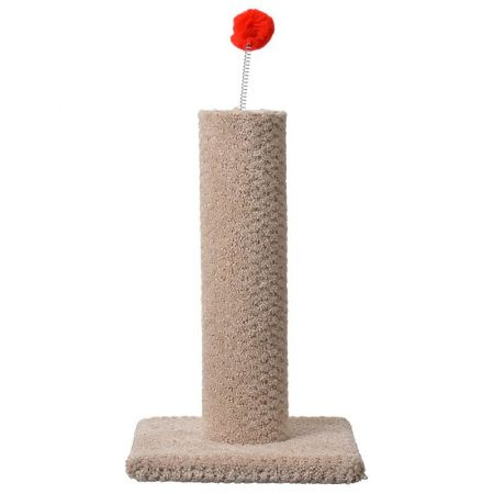 North American Pet Products Classy Kitty Carpeted Cat Post with Spring Toy