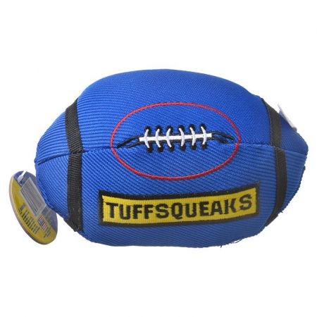 Petsport USA Petsport Tuff Squeaks Football Dog Toy