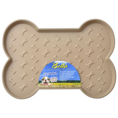 Loving Pets Bella Spill-Proof Dog Mat - Tan alternate view 1