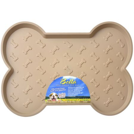 Loving Pets Bella Spill-Proof Dog Mat - Tan alternate view 2