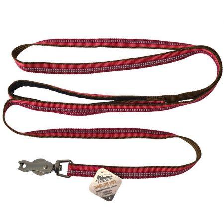 Coastal Pet K9 Explorer Berry Red Reflective Leash with Scissor Snap