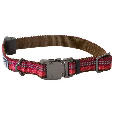 Coastal Pet K9 Explorer Berry Red Reflective Adjustable Dog Collar