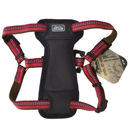 Coastal Pet K9 Explorer Berry Red Reflective Adjustable Padded Dog Harness