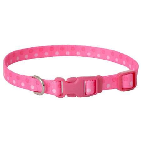 Coastal Pet Pet Attire Styles Polka Dot Pink Adjustable Dog Collar