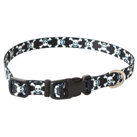 Pet Attire Styles Skulls Adjustable Dog Collar alternate view 1