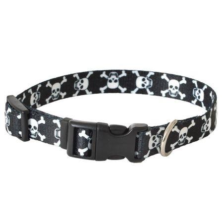 Pet Attire Styles Skulls Adjustable Dog Collar alternate view 2