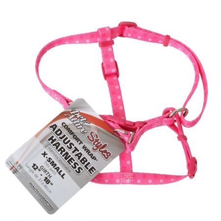 Coastal Pet Pet Attire Styles Polka Dot Pink Comfort Wrap Adjustable Dog Harness