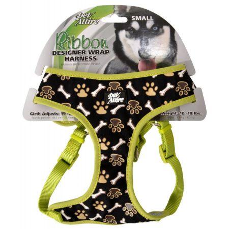 Coastal Pet Pet Attire Ribbon Brown Paw & Bones Designer Wrap Adjustable Dog Harness