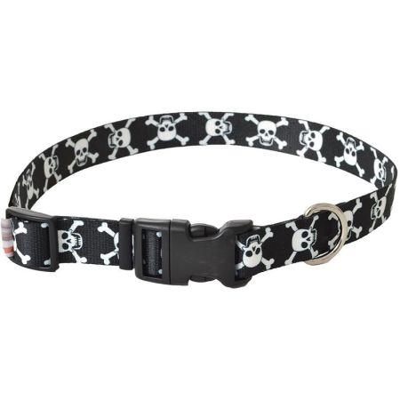 Pet Attire Styles Skulls Adjustable Dog Collar alternate view 3