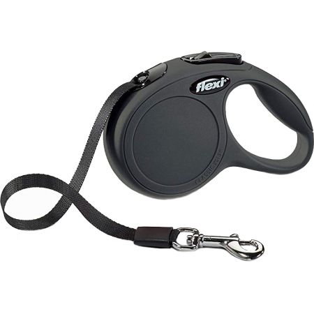 Flexi Flexi New Classic Retractable Tape Leash - Black