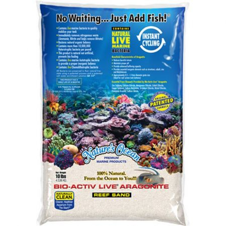Nature's Ocean Nature's Ocean Natural White #1 Bio-Activ Live Aragonite Reef Sand