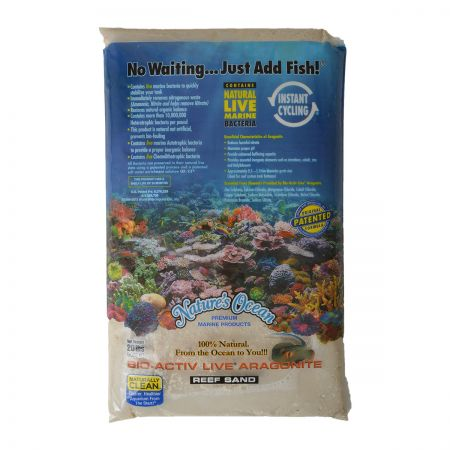 Nature's Ocean Nature's Ocean Natural White #0 Bio-Activ Live Aragonite Reef Sand
