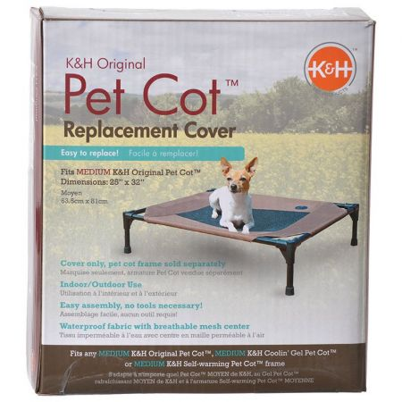 K&H Pet Products K&H Pet Cot Cover - Chocolate Brown