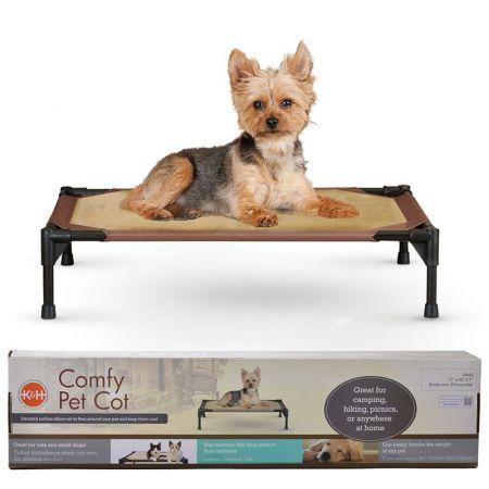 K&H Pet Products K&H Comfy Pet Cot - Mocha/Tan