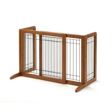 Richell Richell Freestanding Pet Gate - Autumn Matte